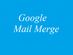 google mail merge