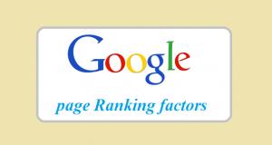 Google ranking factors