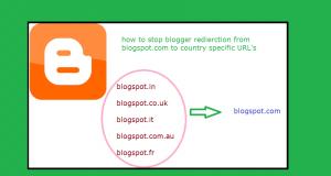 stop blog redirection