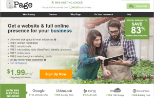 i page web hosting review