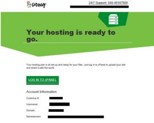 login to godaddy control pannel
