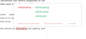 suggitions from grammarly