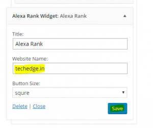 Add alexa widget to your website sidebar or footer
