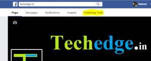 go to publishing tools in your Facebook page
