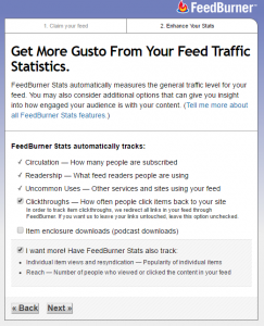 manage feed statistics settings