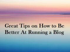 Running a blog
