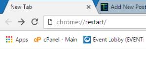 browser restart