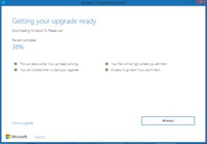 getting windows ready windows 10 upgrade