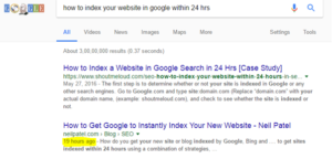 website index with in 24 hours