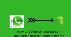 Delete whatsapp messages